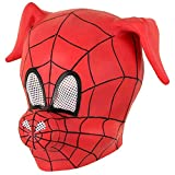 Herocos Funny Spider Pig Head Cosplay Latex Helmet Mask,Adult Children Costume Mask Halloween Costume Props. (Spider) Red