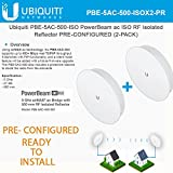 Ubiquiti PBE-5AC-500-ISO PowerBeam ISO 2-PACK PRE-CONFIGURED Isolated Reflector