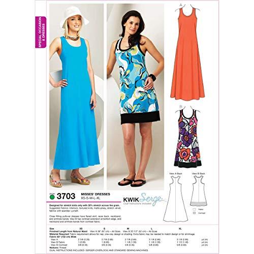 Kwik Sew K3703 Dresses Sewing Pattern, Size XS-S-M-L-XL by KWIK-SEW PATTERNS
