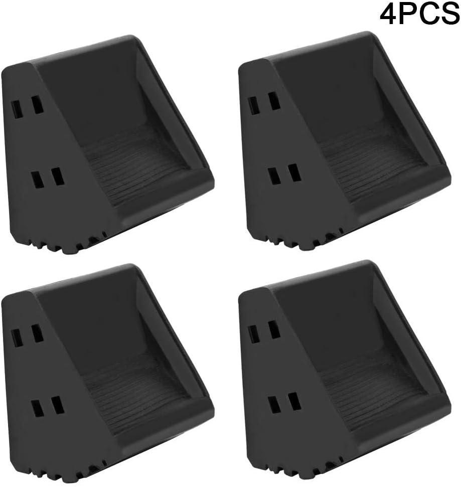 Couvre-pieds d/échelle en caoutchouc 4Pcs /Échelles antid/érapantes Kit de couvre-pieds de s/écurit/é Coussin de remplacement pour pied d/échelle de s/écurit/é pour surface lisse et inclin/ée Travail