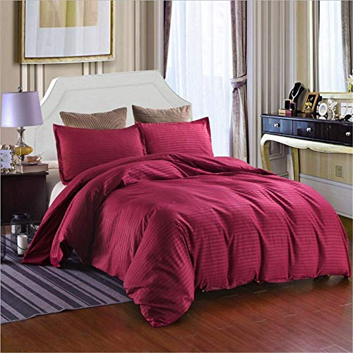 SSHHJ Duver Cover Set Bedding Sets Simple Striped Quilt Soft King Queen Full Twin B 200x230cm