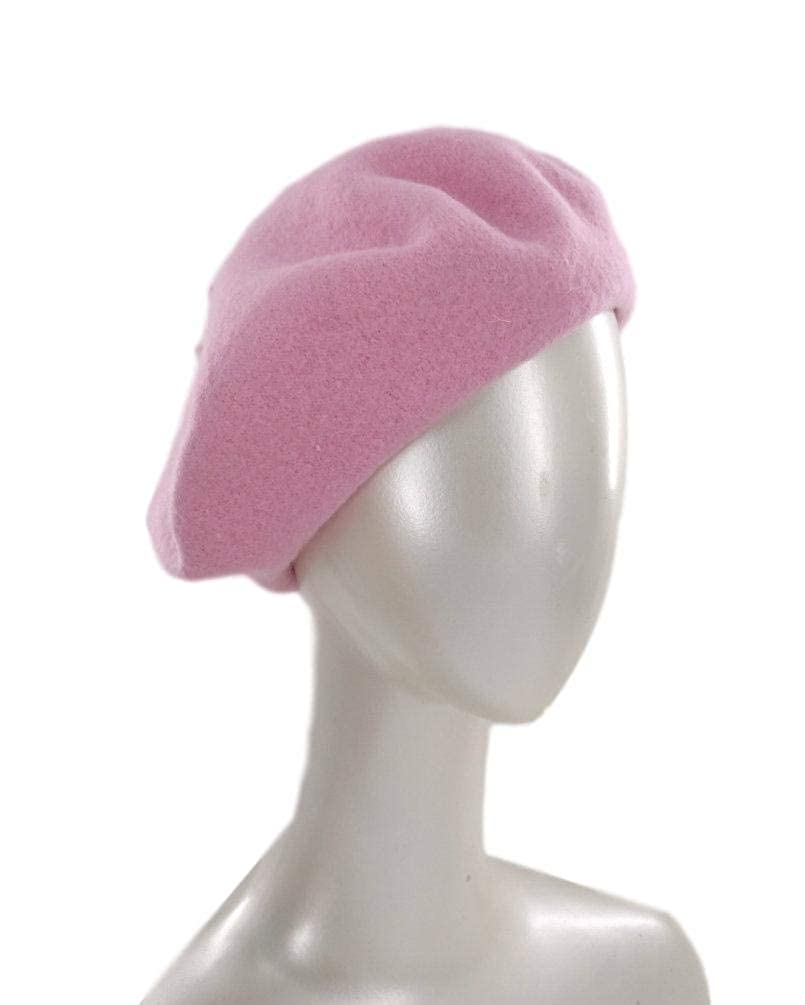 E.S Womens Wool French Beret Hats in Solid Colors H1701