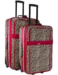Leopard Print 2 Piece Luggage Set