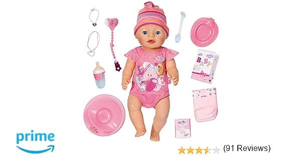 Amazon.es: Zapf Creation Baby Born - Muñeca niña, color rosa (Bandai 815793): Juguetes y juegos