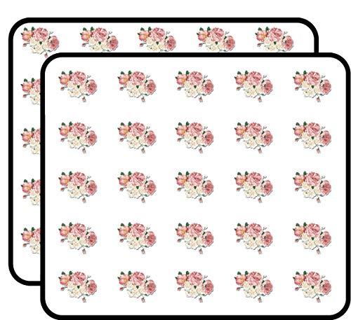 Flower Bouquet Vintage Style Pretty Roses Floral Sticker for Scrapbooking, Calendars, Arts, Kids DIY Crafts, Album, Bullet Journals 50 Pack ()