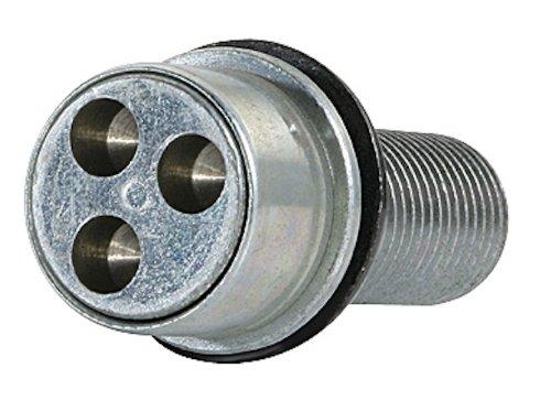 FARAD Stil Bull 1 - Bulloni antifurto per ruote, Filetto M12x1.25, lunghezza 22 mm, ES. 17 mm ELLEDI S.r.l. 1-AL3R SB 1CH.SP