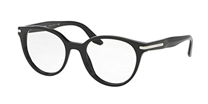 Prada PR07TV Eyeglass Frames 1AB1O1-50 - Black PR07TV-1AB1O1-50 at ...
