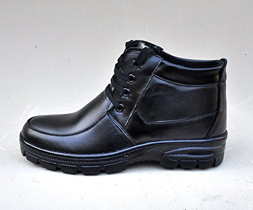 Men's Liveinu Boots Combat High Lace Ankle Up 39 Faux Leather dv67vO