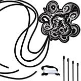 Black Octopus Kite for Kids and Adults: Best Ideal Kite for Memorable Summer Fun, for Outdoor Games and Activities - Perfect Beginner Kites for Kids As It Is Easy to Assemble, Fly and Launch