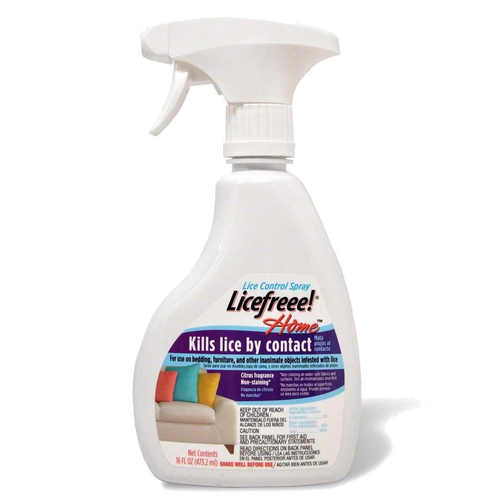 Licefreee Home Spray, Head Lice Treatment for Furniture, Non-Staining, 16 Fluid Ounces