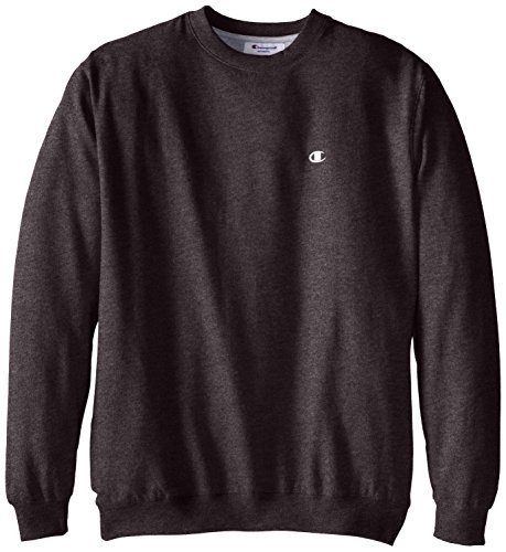 Champion Men's Big-Tall Fleece Crew Sweatshirt, Charcoal Heather, 3X Big And Tall Fleece Sweatshirt