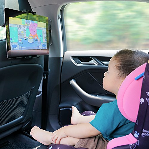 Car Tablet Headrest Mount, Lamicall iPad Holder : Back seat Stand Cradle for 4.7~13 inch like new iPad 2017 Pro 9.7, 10.5, Air mini 2 3 4, Accessories, Tab, E-reader, Smartphones and Tablets - Red by Lamicall (Image #7)