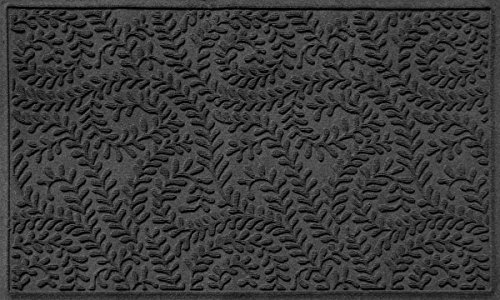 Bungalow Flooring Waterhog Doormat, 3' x 5', Skid Resistant, Easy to Clean, Catches Water and Debris, Boxwood Collection, Charcoal by Bungalow Flooring