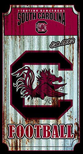 Team Sports America South Carolina Gamecocks Corrugated Metal Wall Art ()