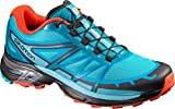 Salomon Women's Wings Pro 2 W Trail Runner, Blue Jay/Fog Blue/Lava Orange, 8.5 M US