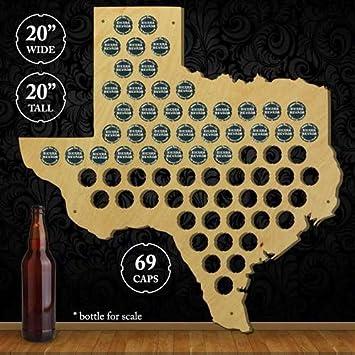 beer cap trap texas beer cap map wall art