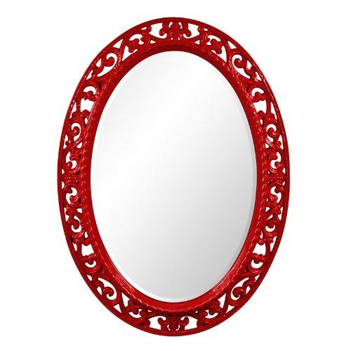 Howard Elliott 2123R Suzanne Mirror, - Red Mirror Round