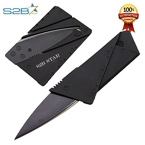 Multi Functional Credit Card knife || Survival Folding Knife || Letter Opener || Stainless Steel Blade || Best Hunting Knife || Outdoor Pocket Knife With PU bag.