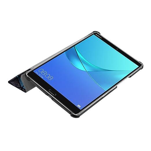 Funda Huawei MediaPad M5 , [Happon] Funda de Cuero Slim Funda Plegable Folio Cover Funda Inteligente con Ranura para Tarjeta de Protección con Auto Sleep ...