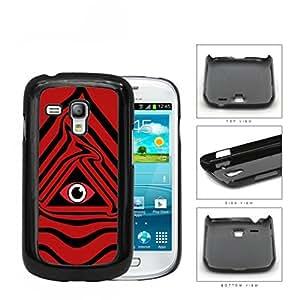 Eye Of Providence Illuminati Symbol Red Hard Plastic Snap On Cell Phone Case Samsung Galaxy S3 SIII Mini I8200 BY icecream design