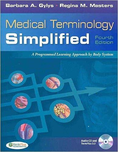 Pkg: Med Term Simp 4th & Tabers 21st Index: Barbara A. Gylys ...