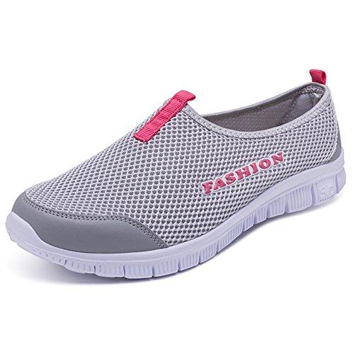 en Zapatos fitness para para gris Zapatillas para deportivos transpirables Zapatos de de exteriores casuales Gimnasios correr de Hombres Eastlion playa caminar malla Zapatos w5Cfxq1na