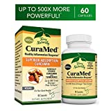 Terry Naturally CuraMed 500 mg Vegan - 60 Softgels - Superior Absorption BCM-95 Curcumin Supplement, Promotes Healthy Inflammation Response - Non-GMO, Gluten-Free, Halal - 60 Servings