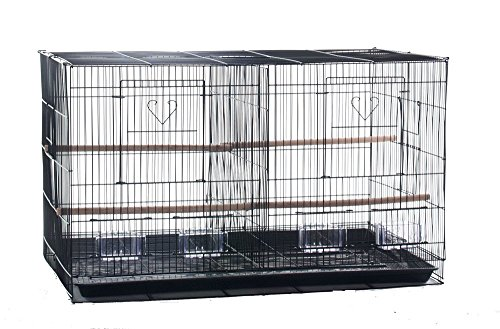 Finch Parakeet Canary Cockatiel Breeder Utility Metal Bird Cage with Divider and Nest Door 30 By 18 By 18 Inch H by CageMart
