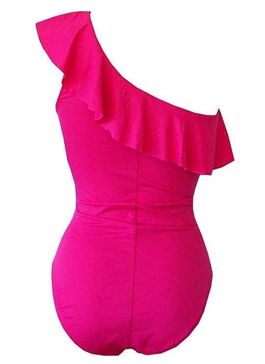 c33b6e36a4 La Blanca Women s Island Goddess Ruffle One Shoulder One Piece Swimsuit at  Amazon Women s Clothing store