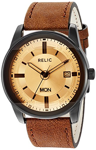 Relic by Fossil Metal and Leather Casual Watch ((Model: ZR12229))