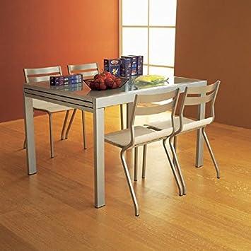 Satinée X Rallonge Table Neutre À 90 Cm Verre 120 Yvbg76yf