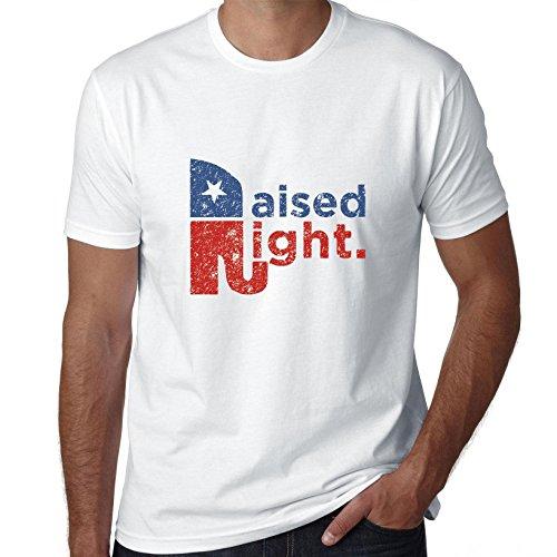Hollywood Thread Republican Raised Right Conservative Values Elephant Men's T-Shirt