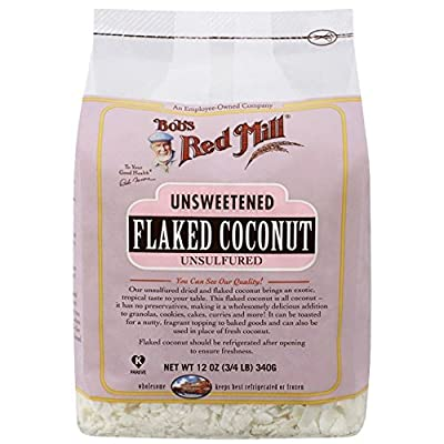 Bob's Red Mill Unsweetened Flaked Coconut - 12 oz (3/4 LB ) 340g from Bob's Red Mill