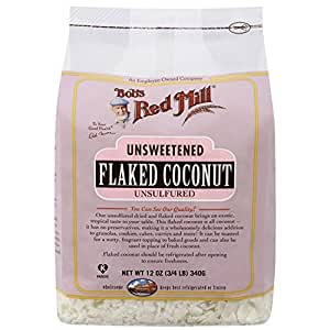 Bob's Red Mill Unsweetened Flaked Coconut - 12 oz (3/4 LB ) 340g
