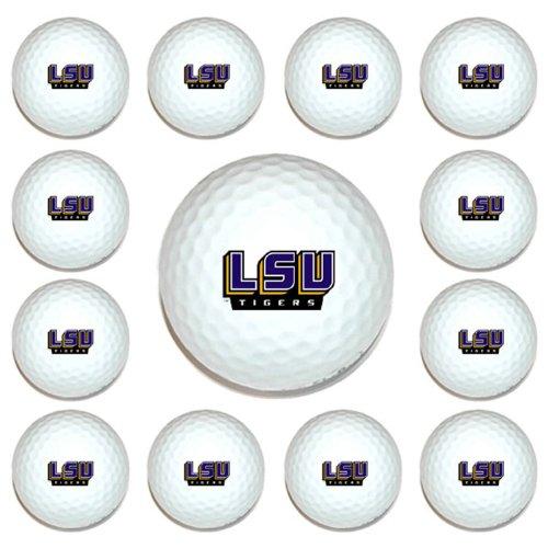 Tigers Logo Golf Balls (NCAA LSU Tigers Golf Balls, 12 Pack)