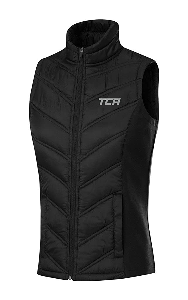 TCA Women's Excel Runner Thermal Lightweight Running Vest with Zip Pockets