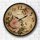 LOVE(TM)Rose Clock, Multi-Colour, 34 cm (NON-TICKING,NO GLASS COVER,NO FRAME) For Sale