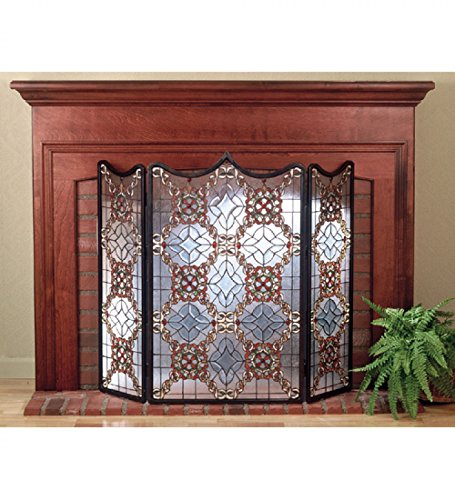 ian Beveled Fireplace Screen Dry ()