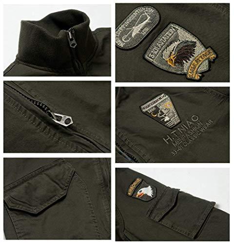 Chaqueta Multi Sport 5 Ntel Jacket Cómodo Otoño Algodón Pocket Sweat De Schwarz Chaquetas Size Bomber Hombres Hombres Classic SG Moda Hombres Jacket Color Battercake Piloto Jacket Hombres wnZStqWR