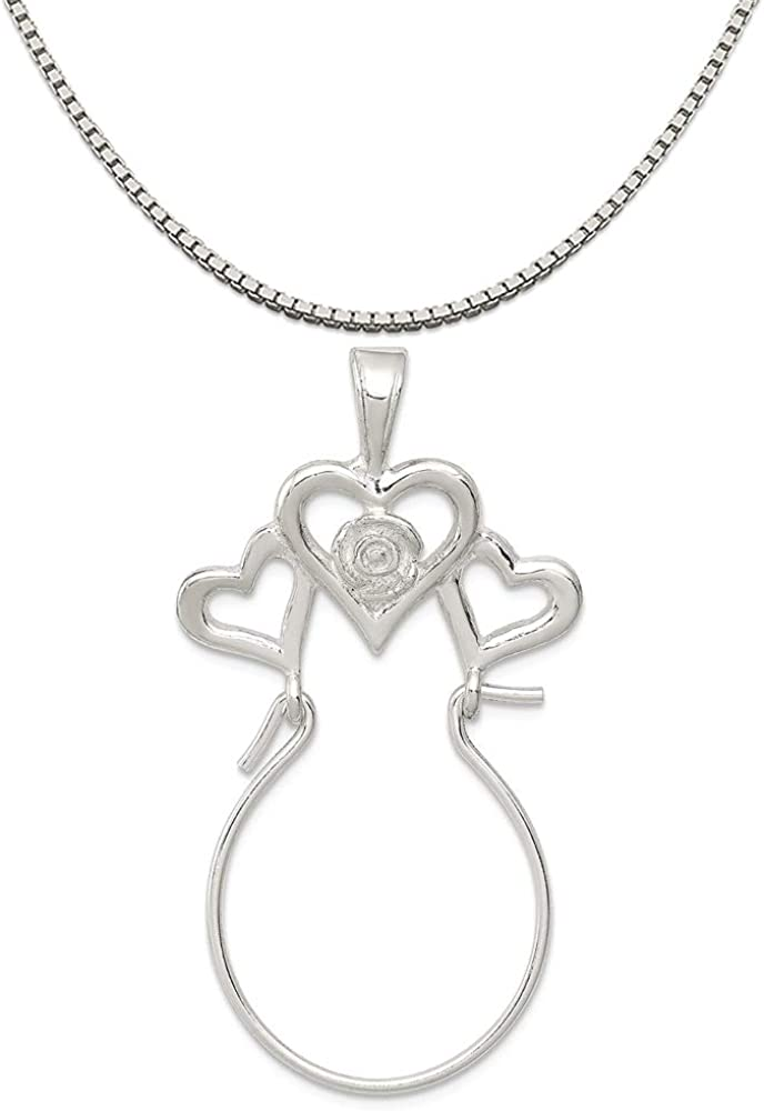 16-20 Mireval Sterling Silver Budded Cross Charm on a Sterling Silver Chain Necklace