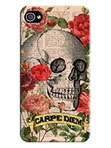 2018 High Quality iphone 4/4s Beautiful Skull Arts Case Cover For Fans LarryToliver #1 by runtopwell