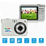 HD Mini Digital Camera with 2.7 Inch TFT LCD Display, Digital Video Camera Silver- Sports,Travel,Camping,Birthday&Christmas Gift (Silver)