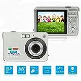 HD Mini Digital Camera with 2.7 Inch TFT LCD Display, Digital Video Camera Silver- Sports,Travel,Camping,Birthday&Christmas Gift (Silver)