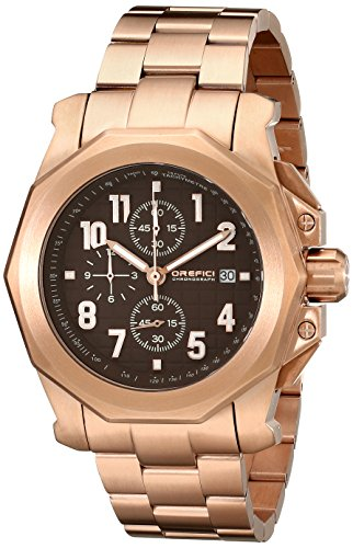 Orefici Unisex ORM6C4404BR Analog Display Quartz Rose Gold Watch