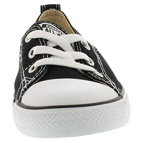 Converse Women's Chuck Taylor All Star Canvas Ballet Lace Slip-On Fashion Sneaker Black 9 M US