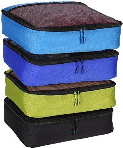 Packing Cubes 4pcs Value Set for Travel - 4 Large Size Bago's Cubes
