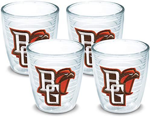 Tervis 1007820 Bowling Green Falcons Logo Tumbler with Emblem 4 Pack 12oz, Clear