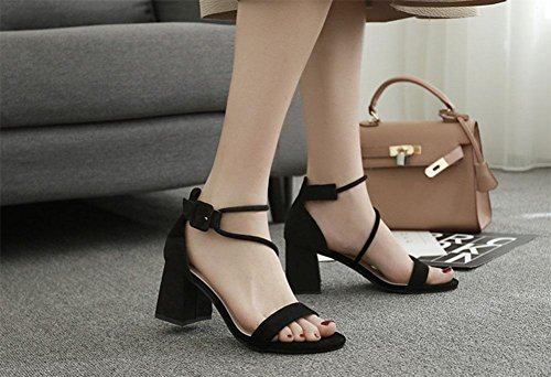 MEILI Frauen dick mit runde Kappe Sandalen 2