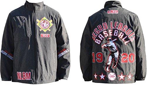 Negro League Baseball Jackets - Cultural Exchange Negro League Baseball NLBM S4 Mens Windbreaker Jacket [Black - XL]