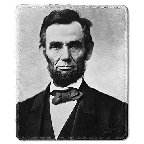 (dealzEpic - Art Mousepad - Natural Rubber Mouse Pad with Classic Photo of Portrait of 16th US President Abraham Lincoln - Stitched Edges - 9.5x7.9 inches)